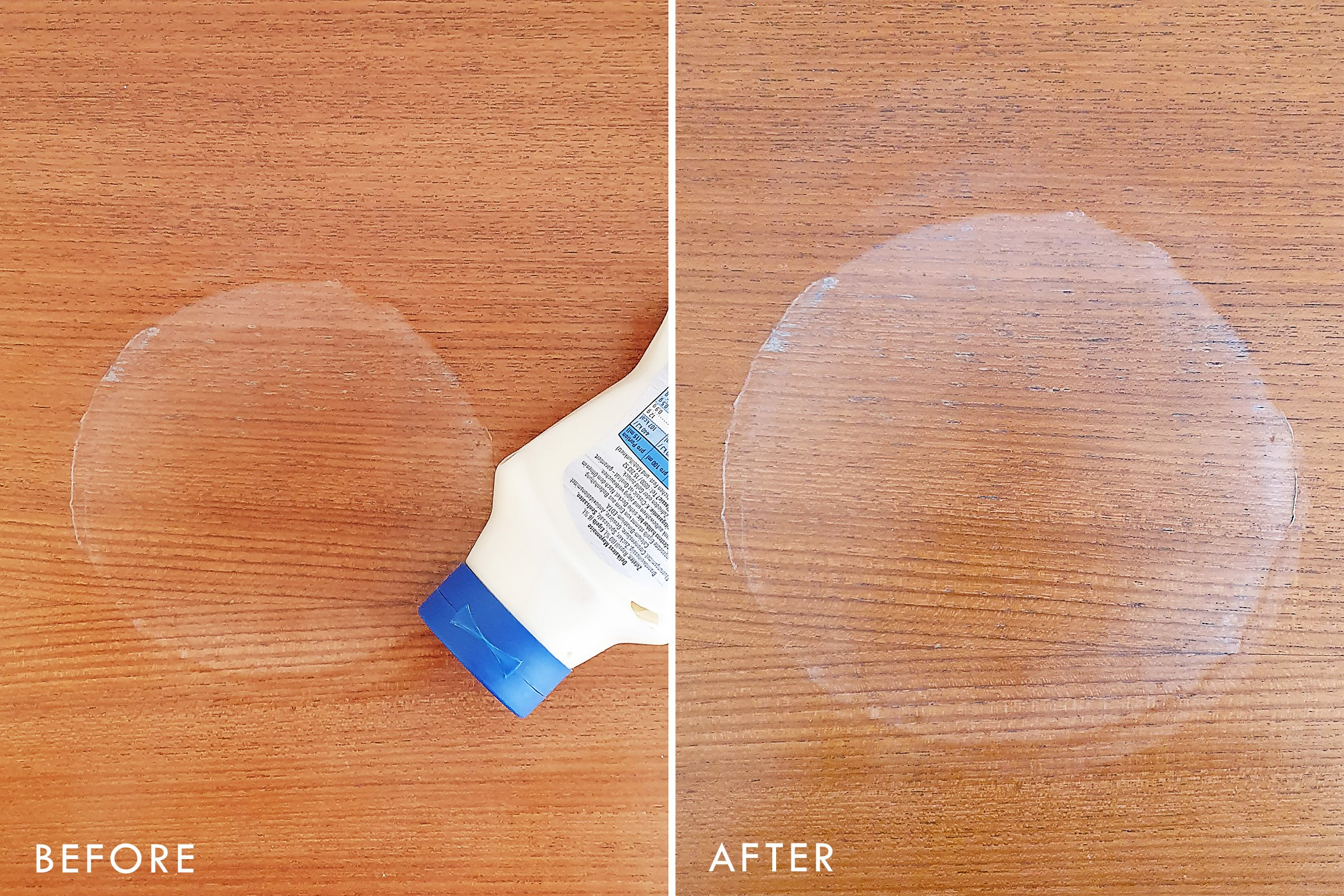 How To Remove Watermarks - Mayonnaise - Before and After | Little House On The Corner