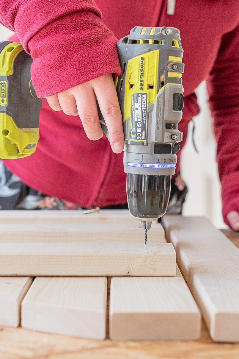 Assembling & Drilling Space Saving Table