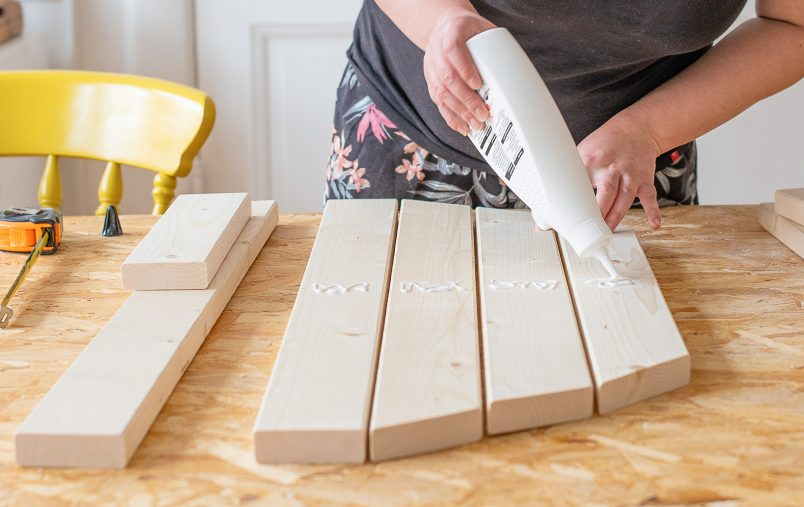 Folding Table - Gluing Parts Together