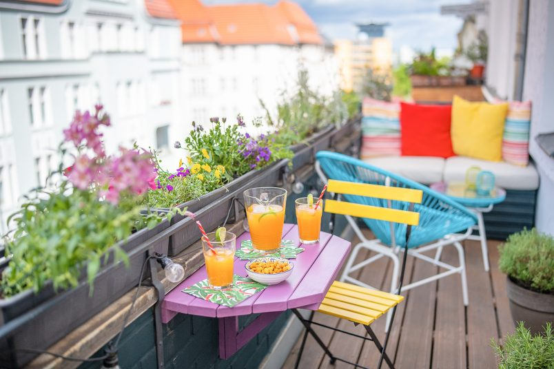 Space Saving Foldable Balcony Table
