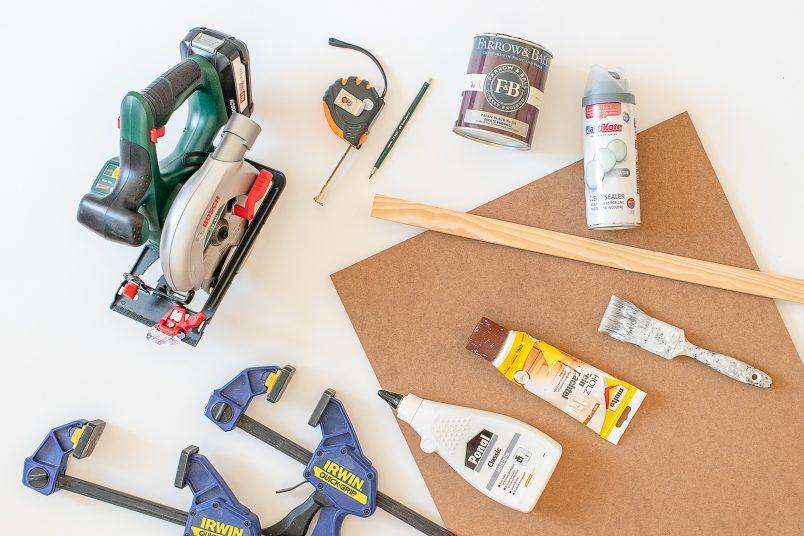 DIY Modern Serving Tray - Supplies