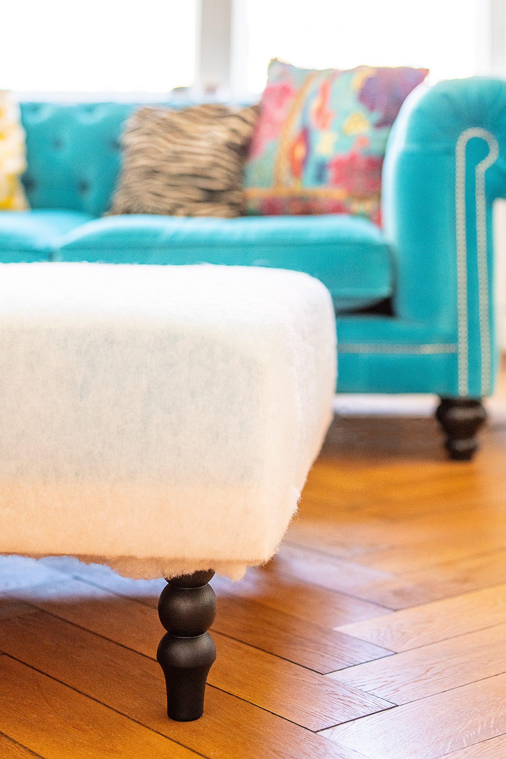 DIY Upholstered Ottoman | Little House On The Corner