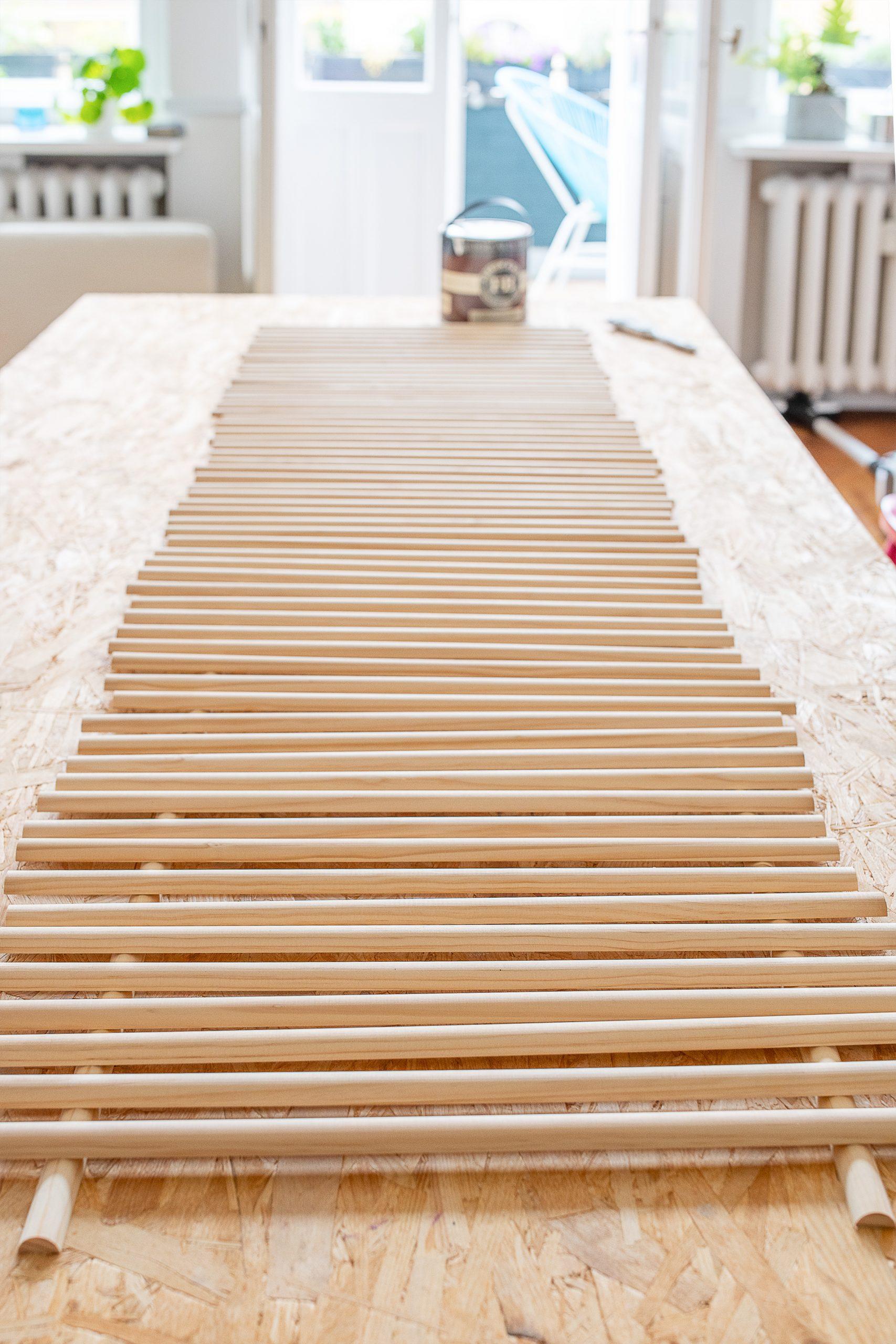 DIY Ribbed Coffee Table - Ribbed Side Slats