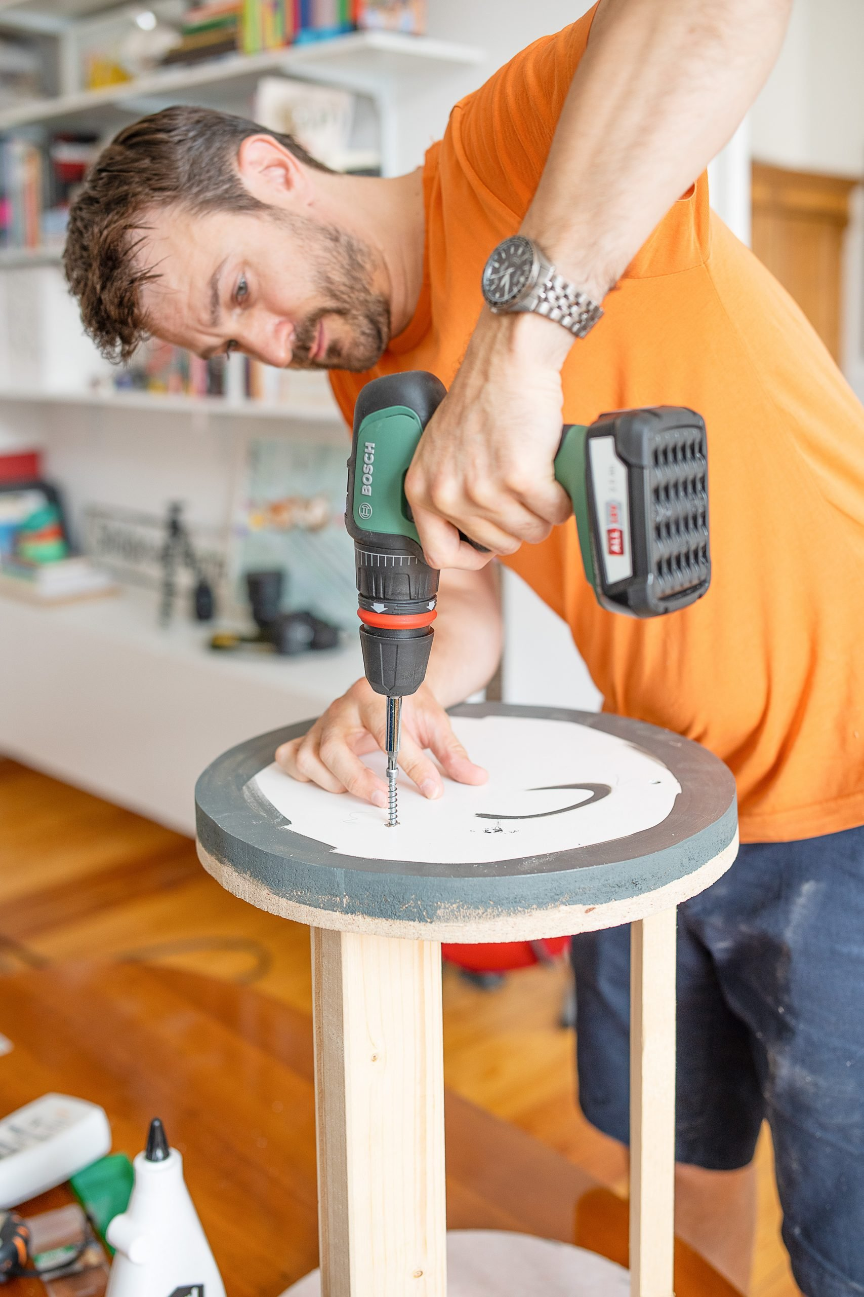DIY Ribbed Side Table - Assembling The Inner Structure