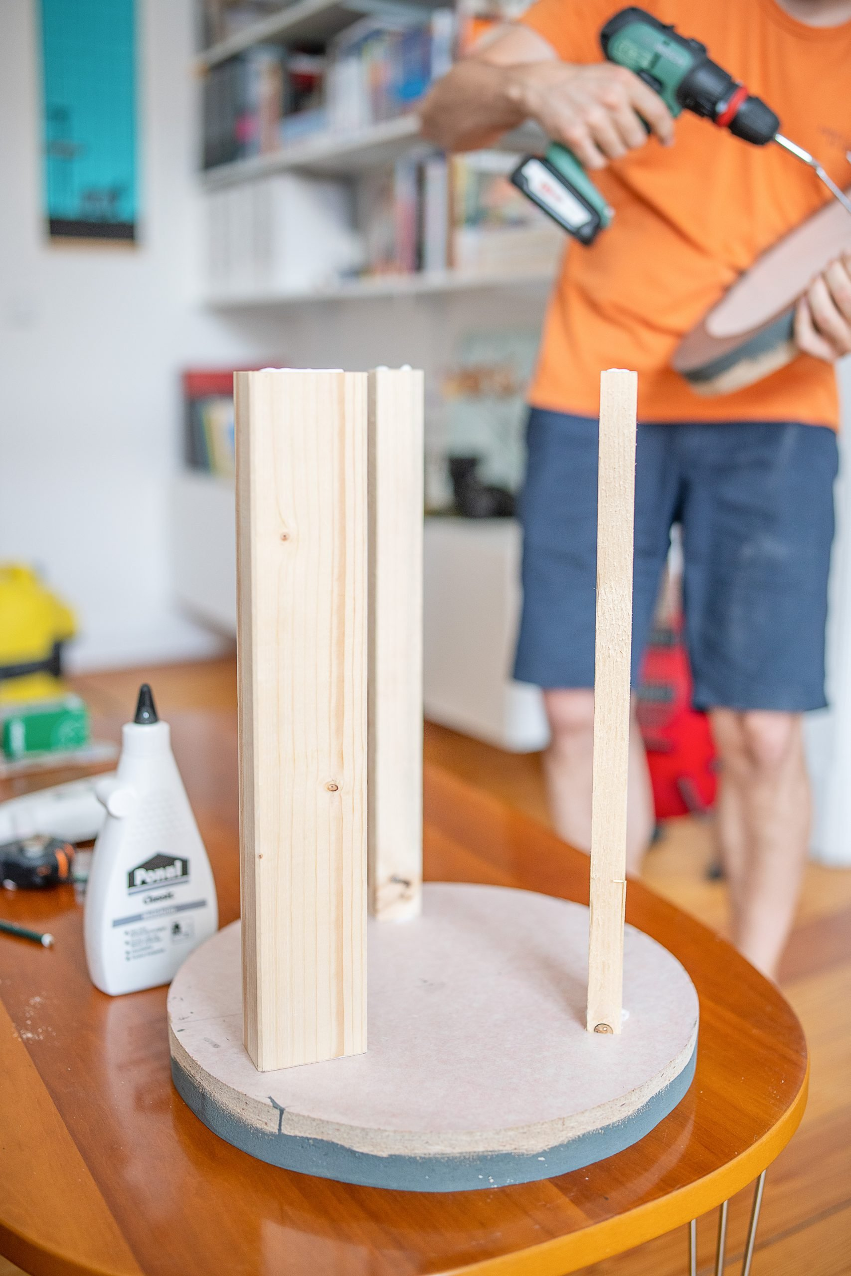 DIY Ribbed Side Table - Assembling The Inner Table Structure
