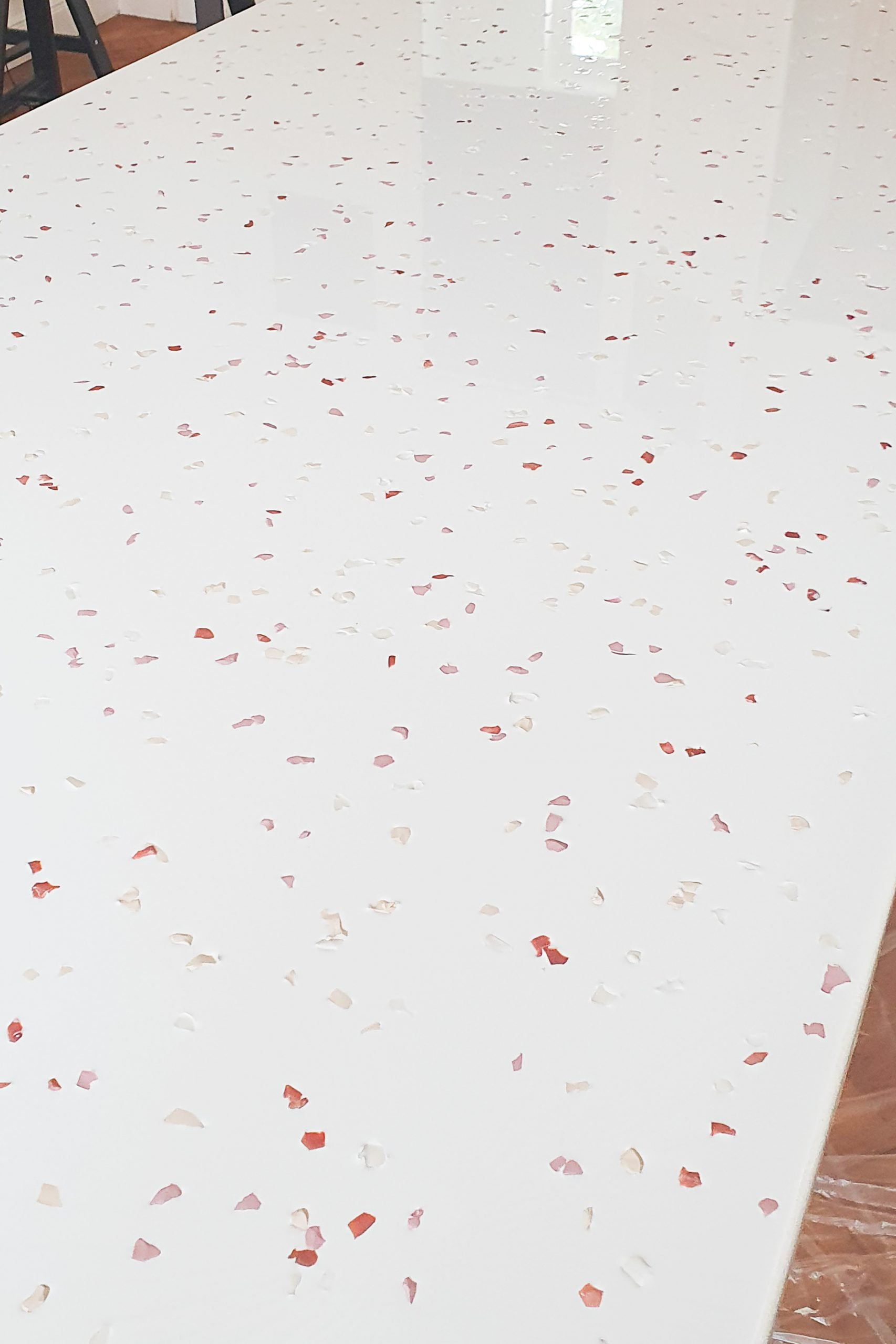Faux Terrazzo Table with Fimo!