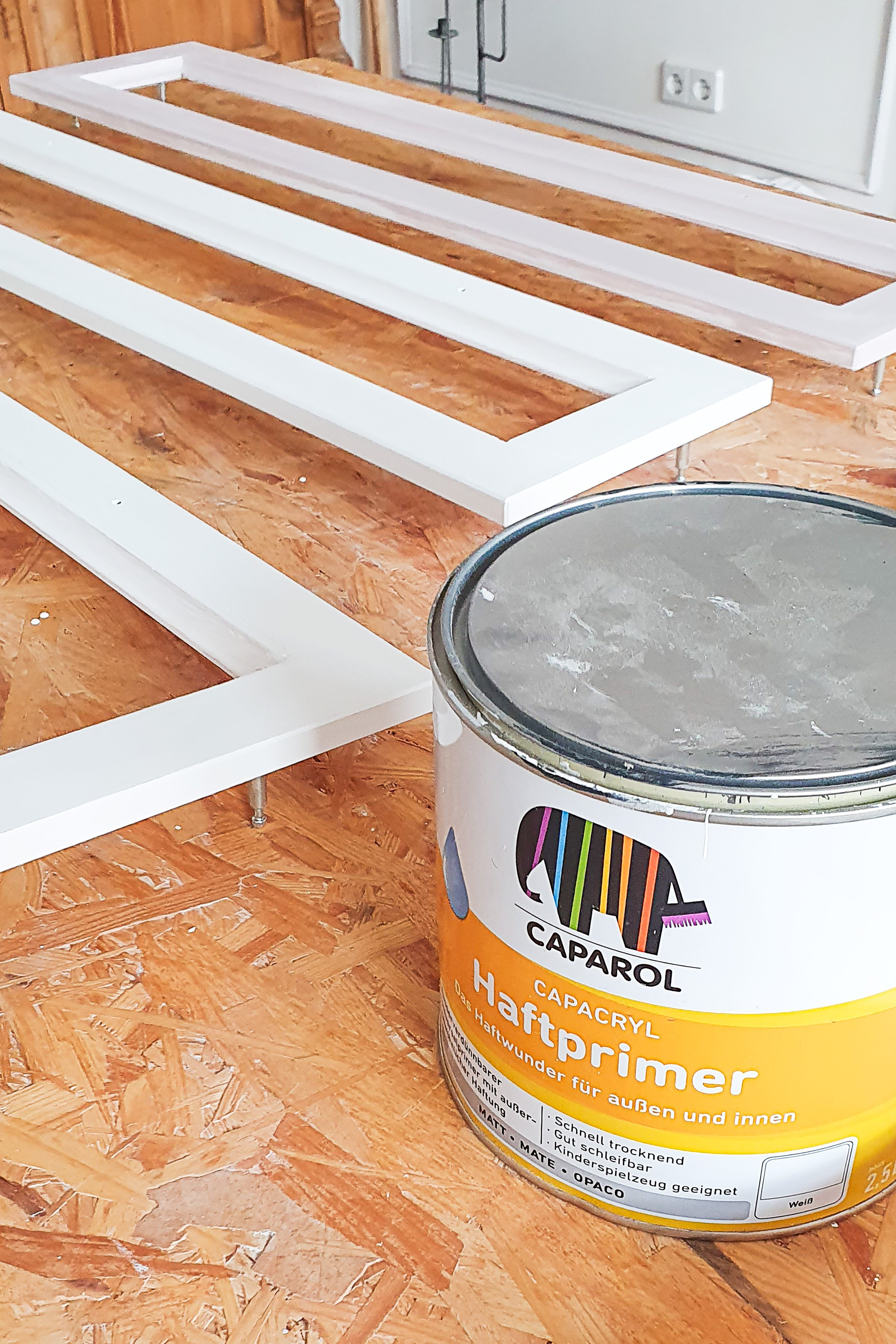 Ikea Hemnes Hack with Cane Webbing - Priming | Little House On The Corner