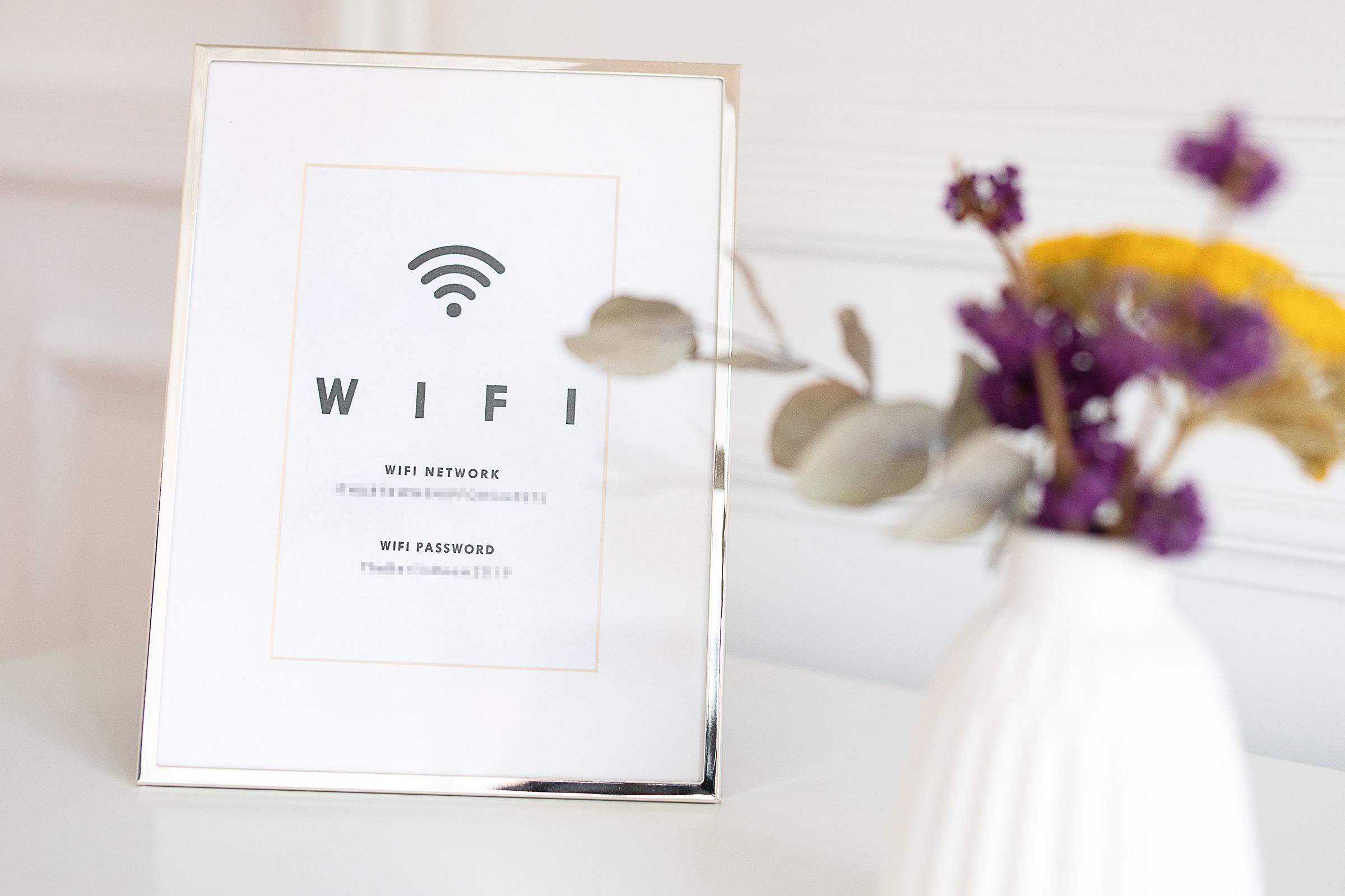 Mot de passe WiFi de la chambre d'hôtes