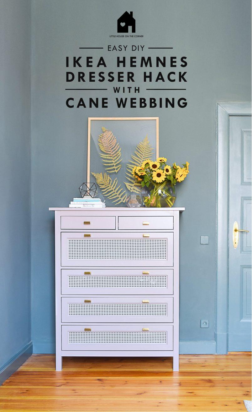 Ikea Hemnes Hack With Cane Webbing | Little House On The Corner