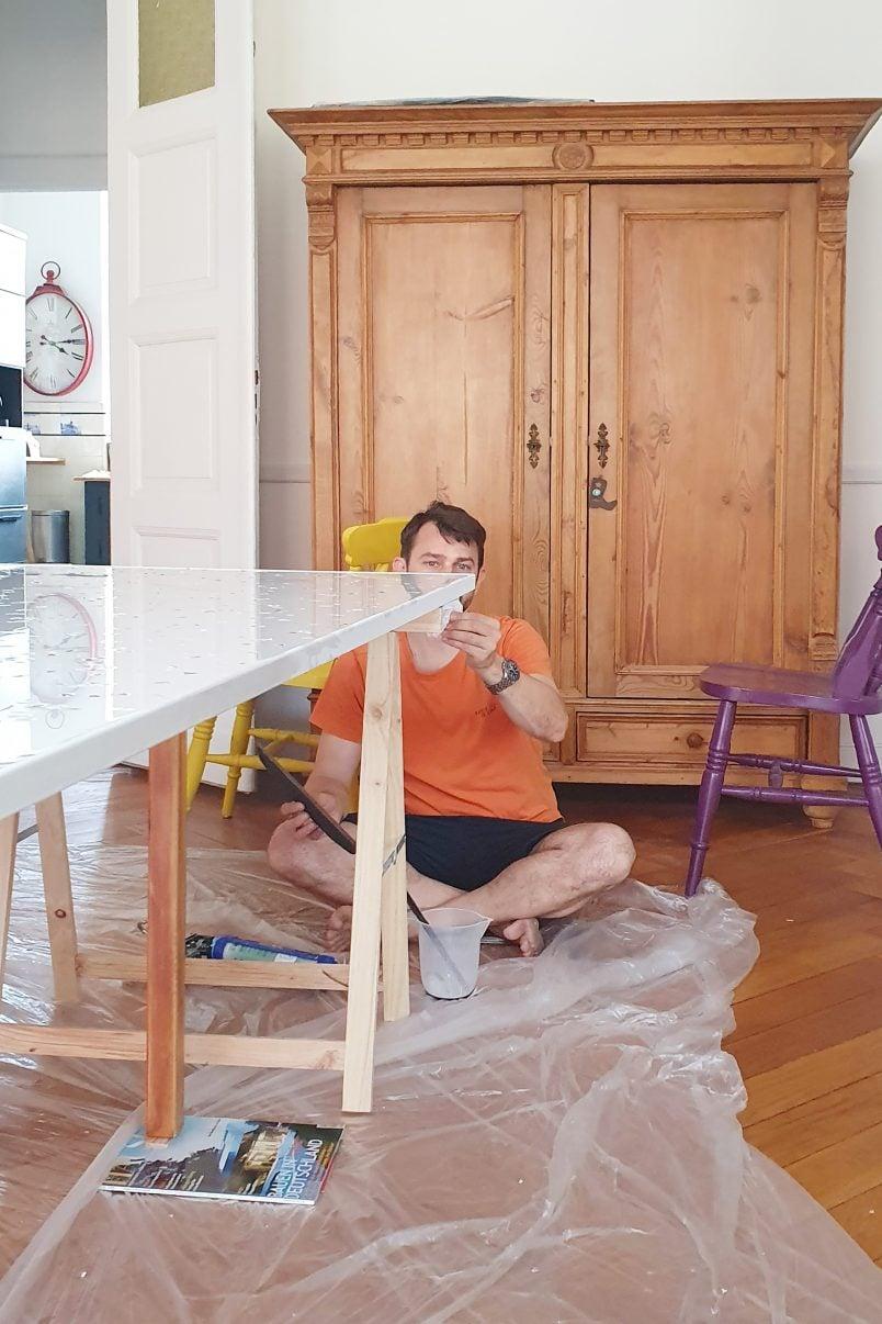 DIY Terrazzo Resin Table - Easy DIY Project