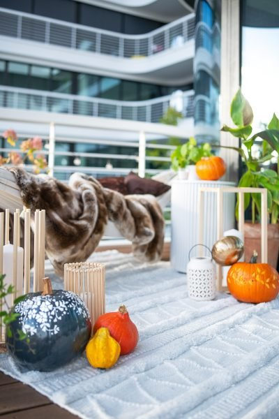 Cozy Balcony with DIY Lanterns