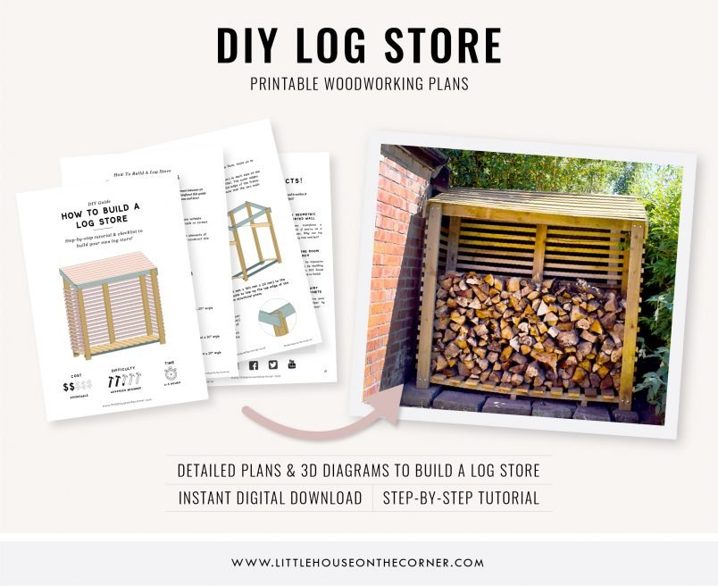 DIY-Log-Store-Woodworking-Plans-and-Tutorial