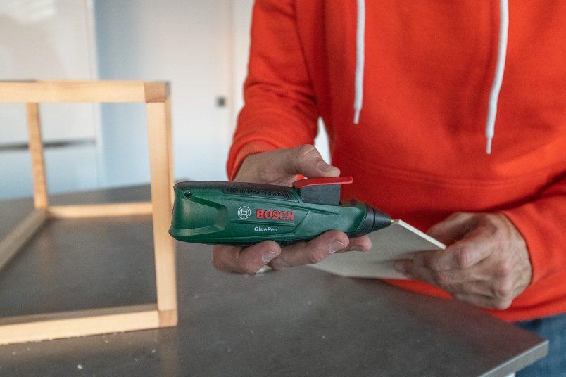 DIY Outdoor Lantern - Attaching Floor