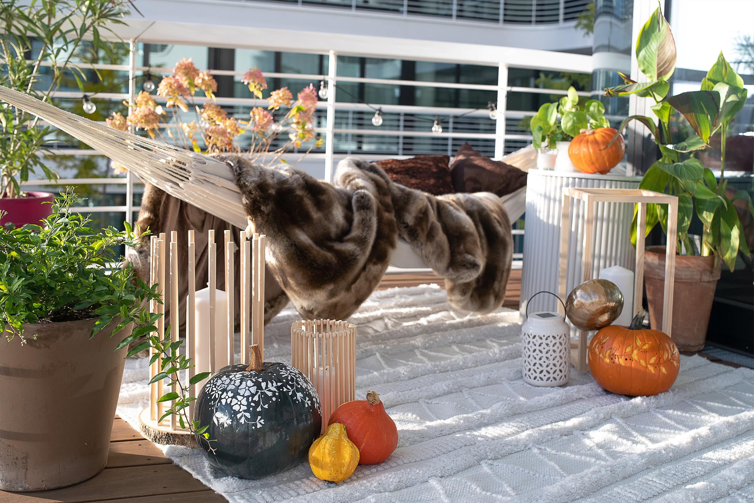 Stylish Balcony with Hammock