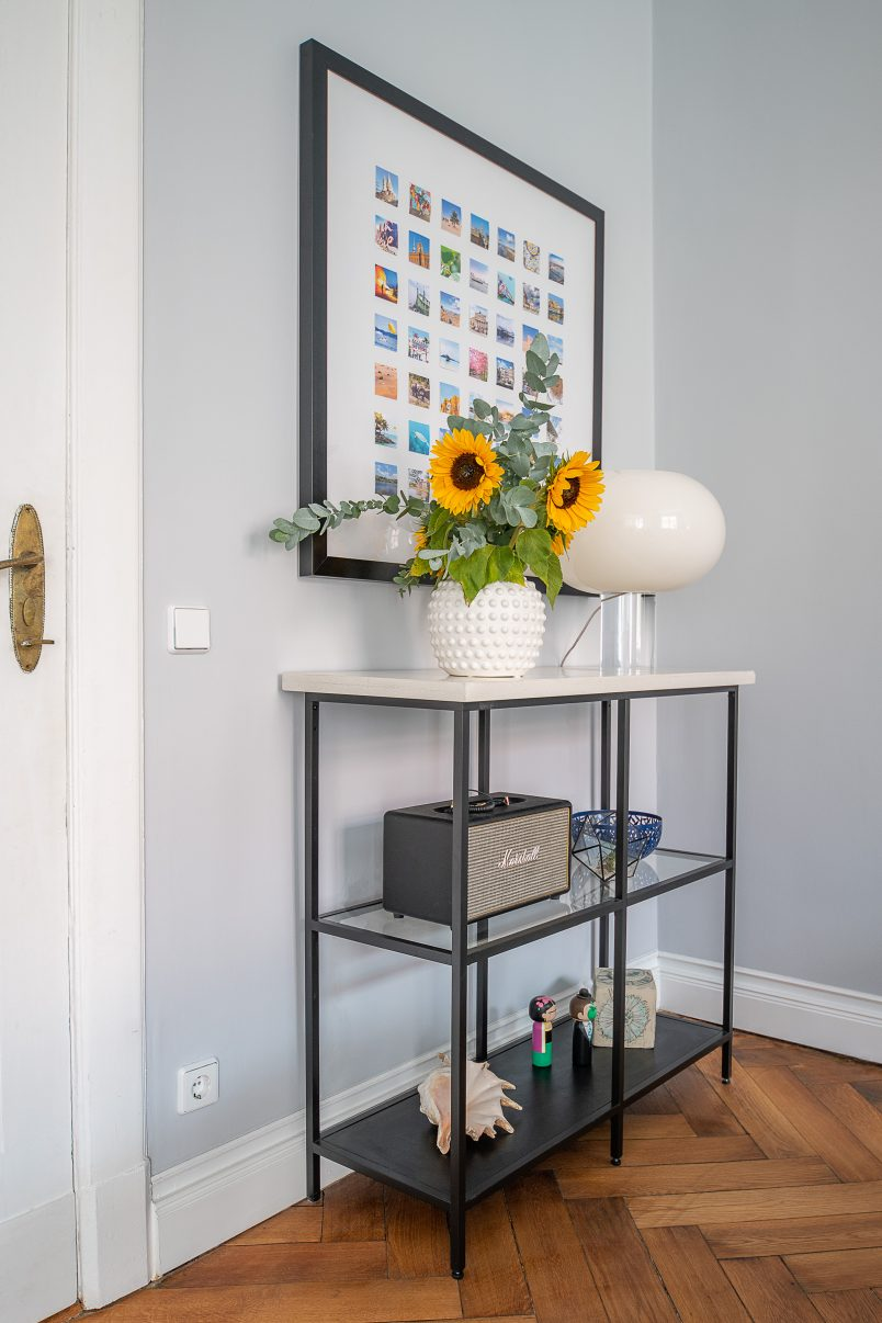 Console Table With Concrete Top