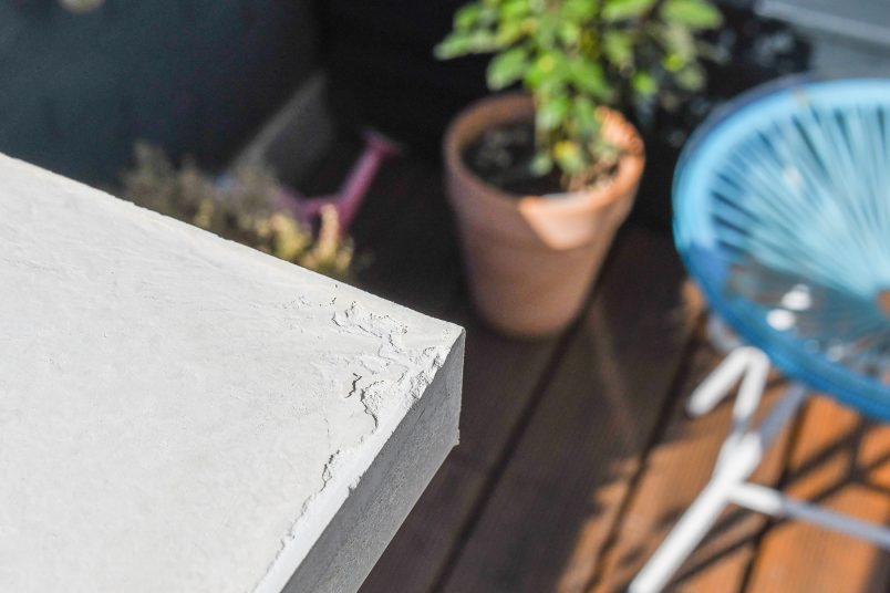 Corner Of DIY Concrete Vittsjö Hack