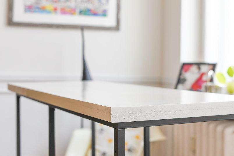 DIY Concrete Top On Ikea Vittsjö Cabinet