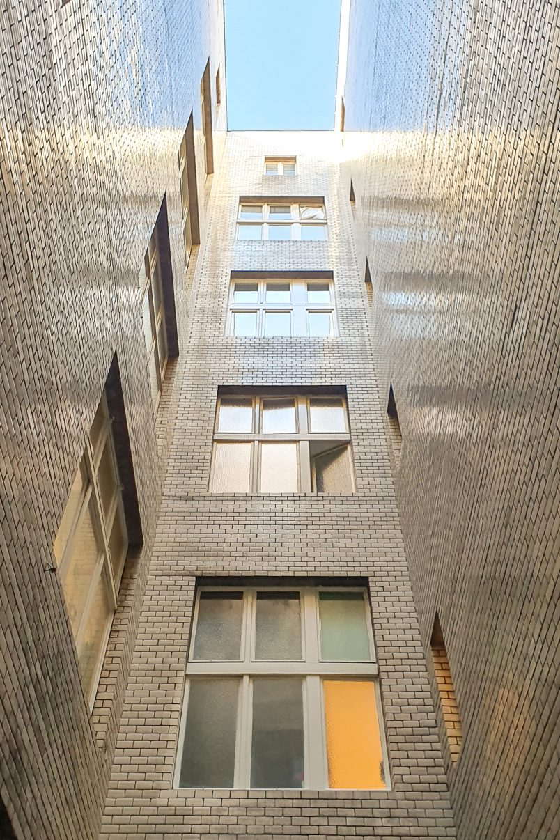 Tiled Light Well in Berlin Apartment Block