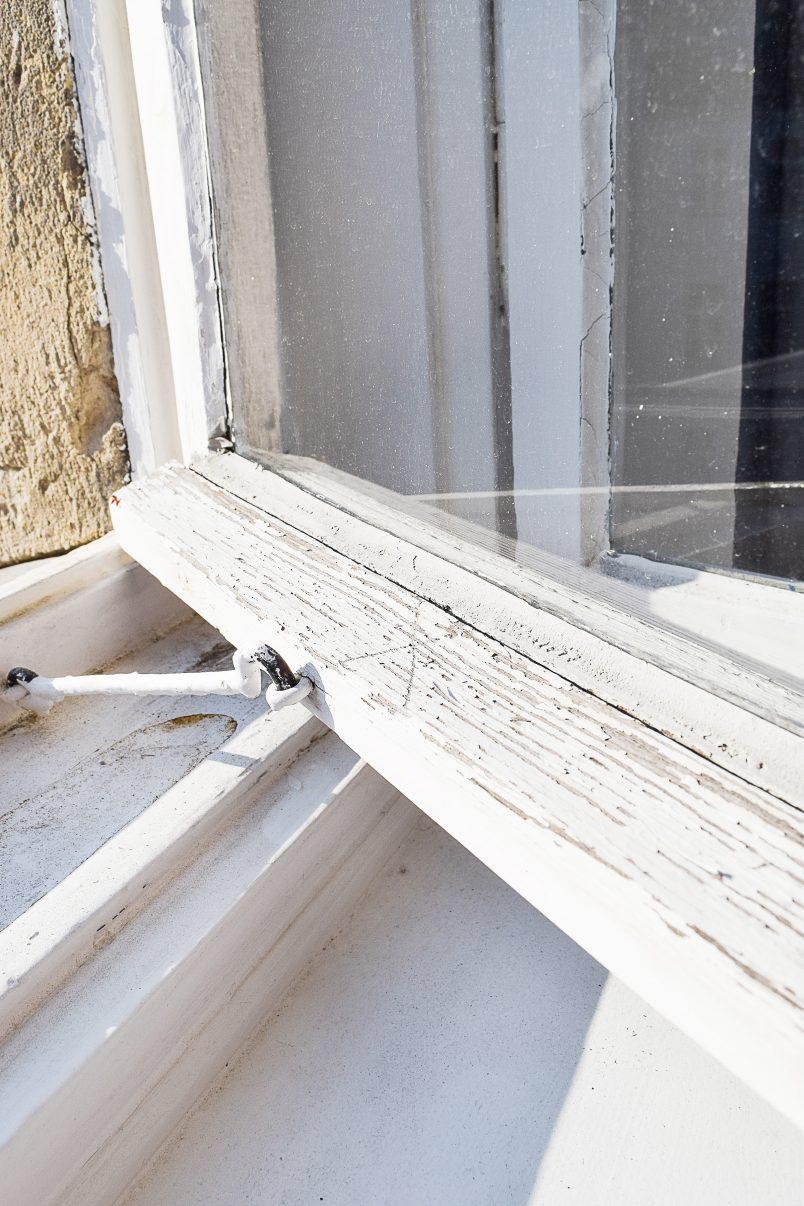 Damaged Wooden Window