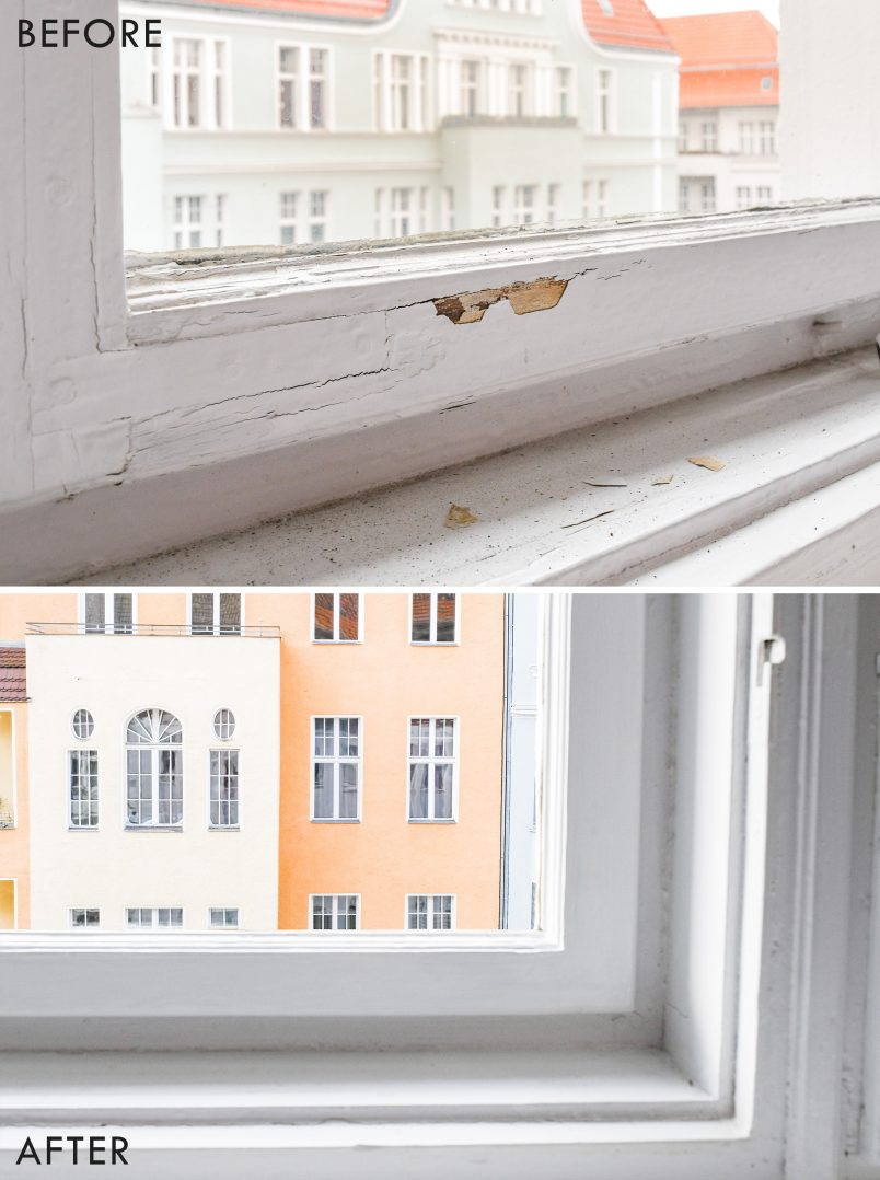 Wooden Window Restoration Before and After