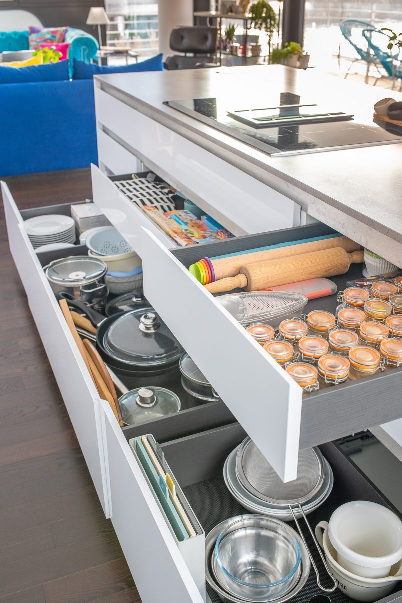 Pan Drawers In Kitchen - Little House On The Corner