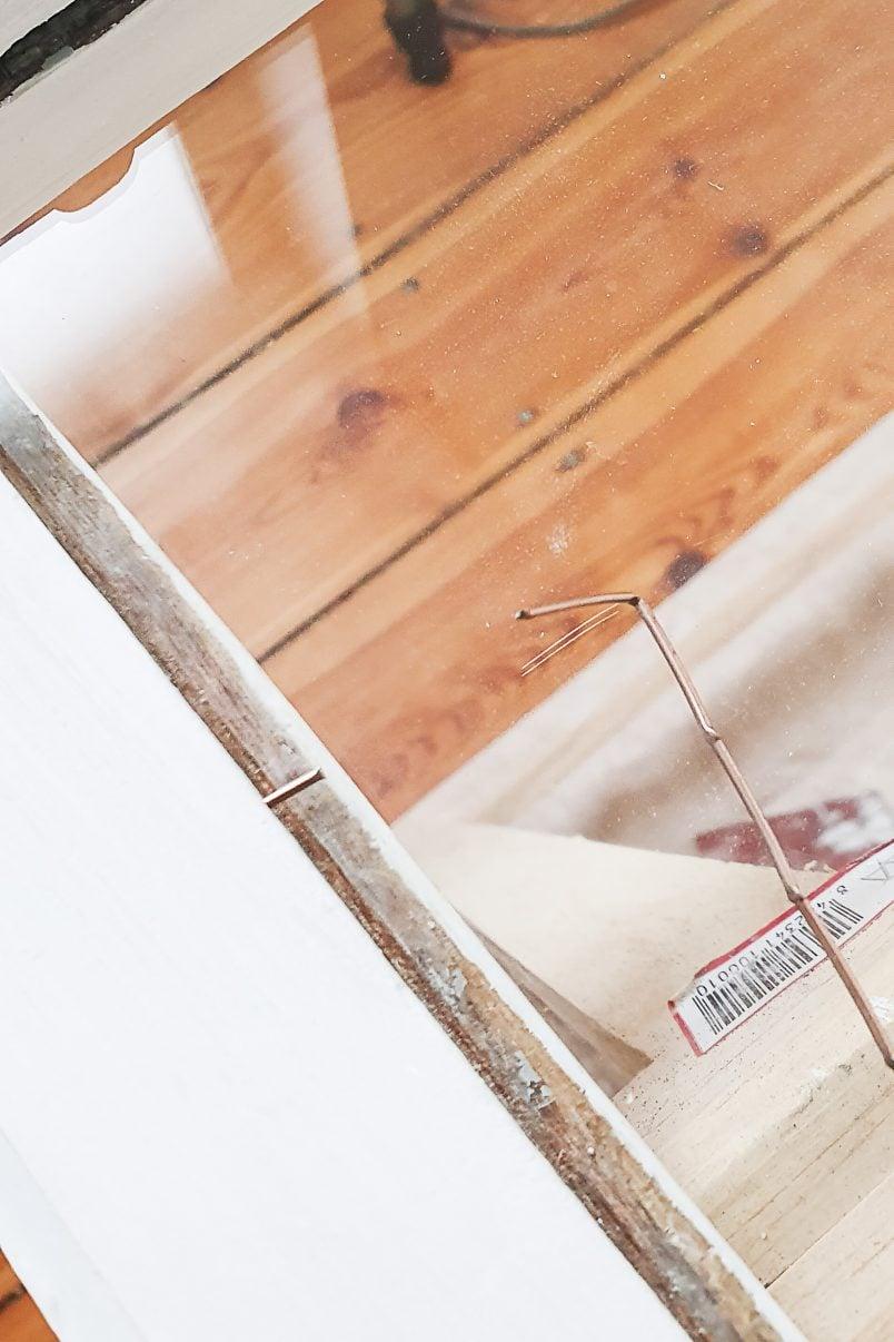 Restoring Timber Window - Adding Glaziers Points