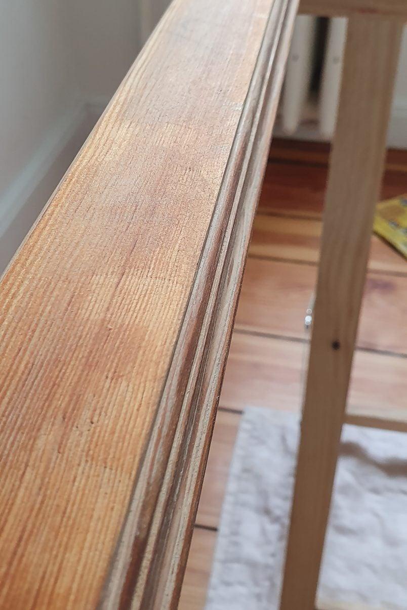 Sanded Windowframe before painting