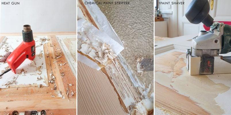 three ways to strip paint