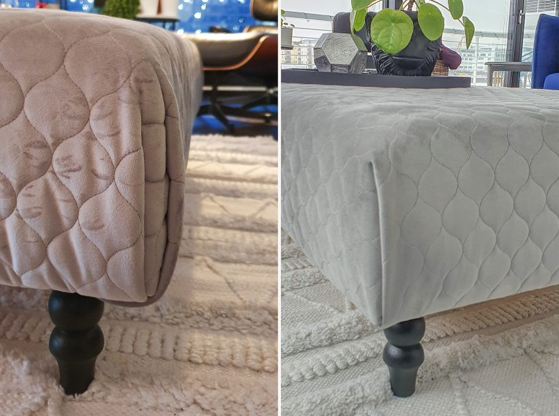 Upholstery Corner Before and After