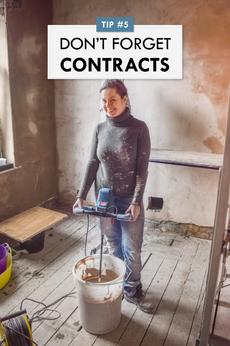 How To Negotiate With Your Builder - Don't Forget Contracts - Little House On The Corner