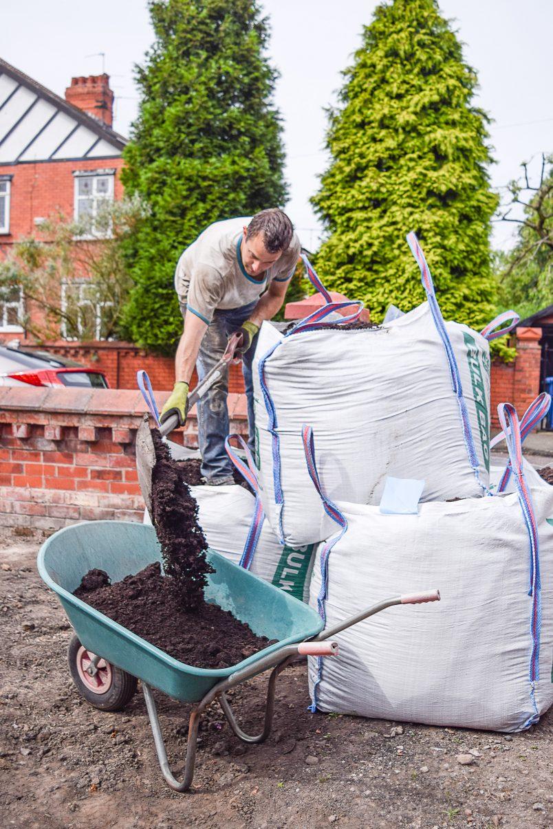 Shovelling Soil in the Garden