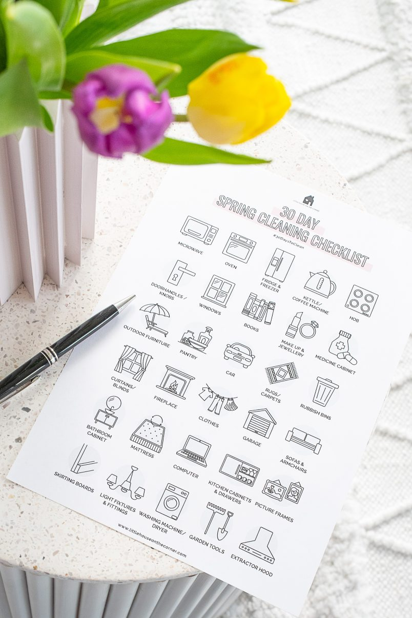 30 Day Spring Clean Checklist - Little House On The Corner