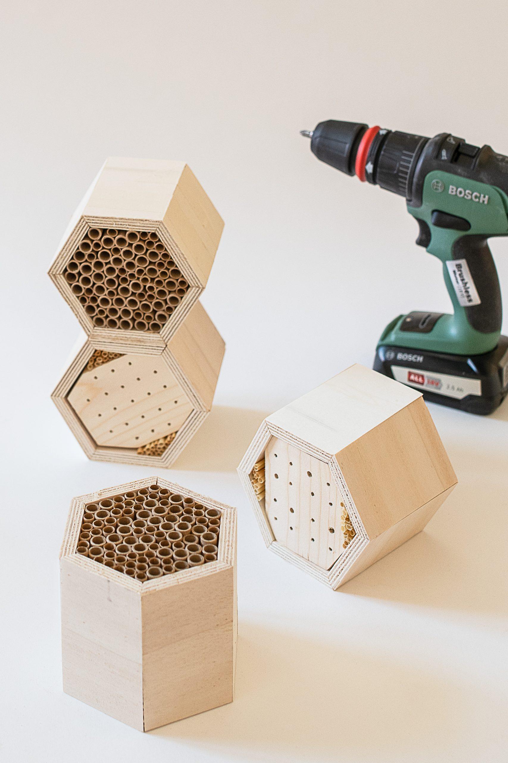 Filling A DIY Bug Hotel