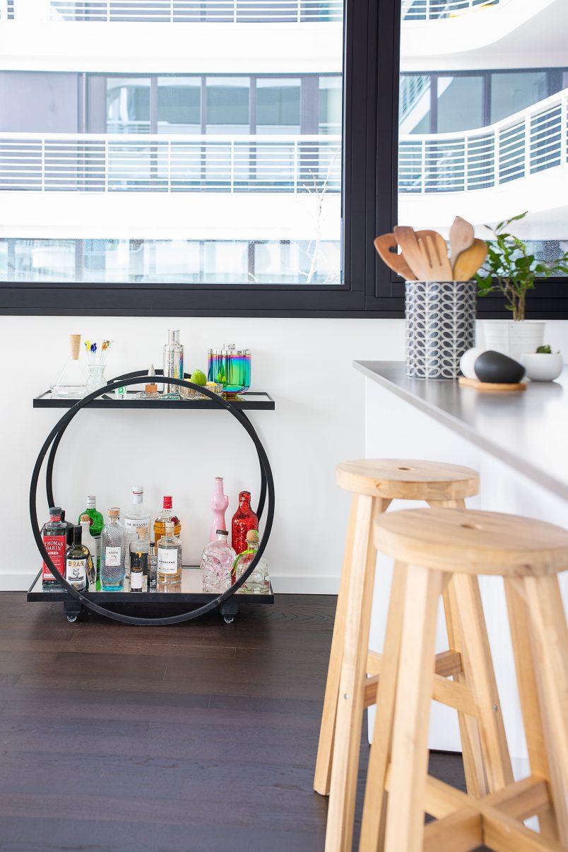 Our Current Riverside Berlin Apartment - Bar Cart