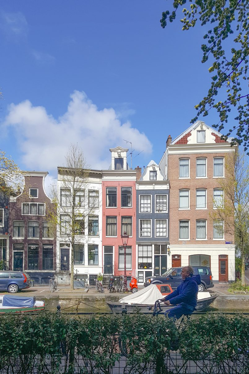 Houses on Canal In Amsterdam