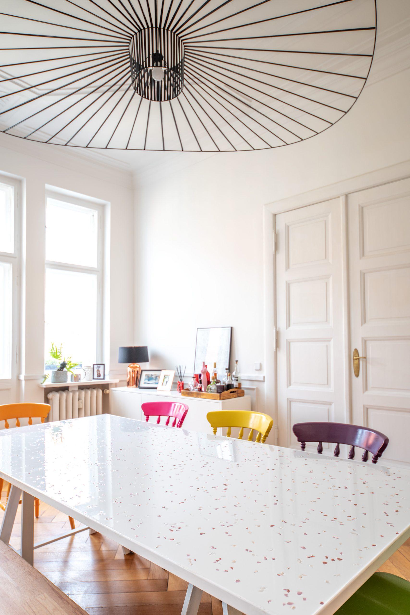 DIY Epoxy Resin Terrazzo Dining Table