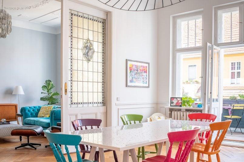 DIY Epoxy Terrazzo Dining Table