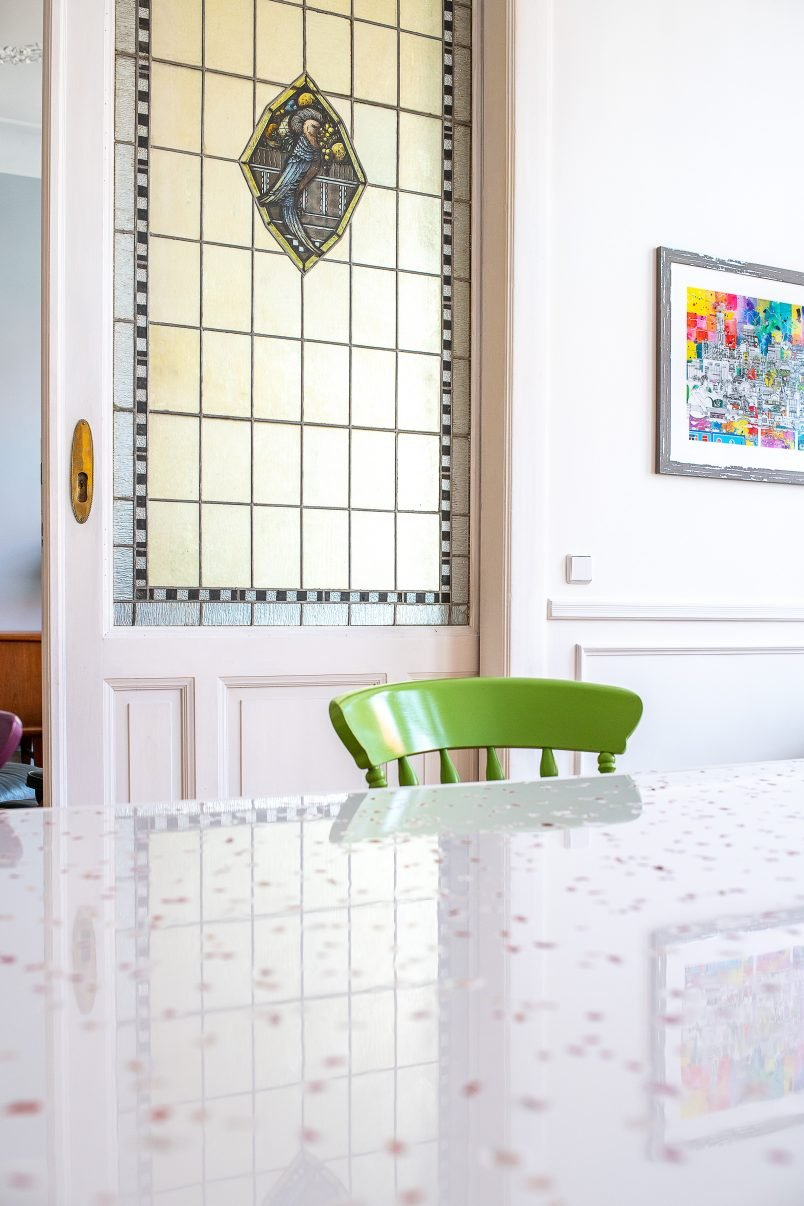 DIY Epoxy Terrazzo Resin Dining Table