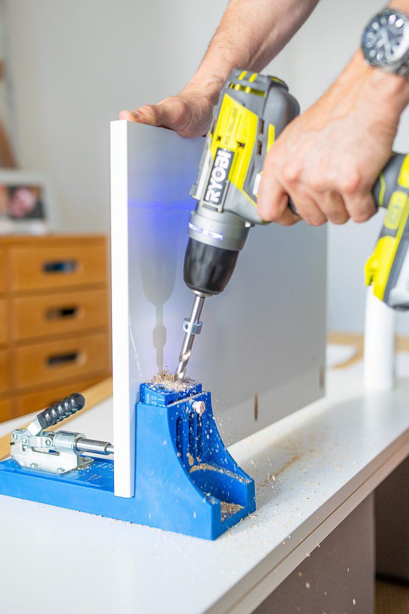Drilling Pocket Holes with Kreg Jig - Copy