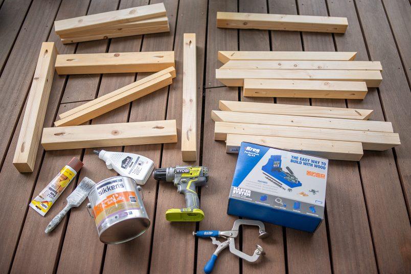 DIY Outdoor Armchairs - Supplies