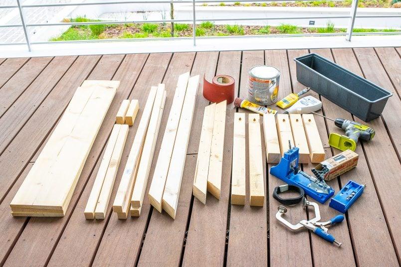 DIY Outdoor Coffee Table with HIdden Drinks Cooler - Supplies