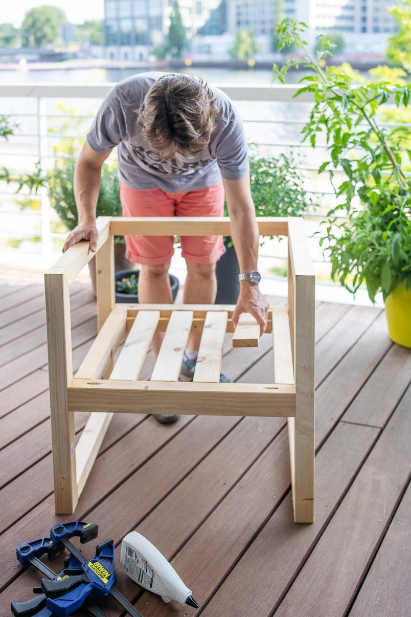 DIY outdoor armchair - easy diy project