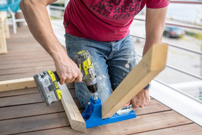 drilling 45° angle pocket hole