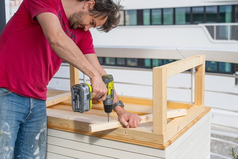 predrilling holes for table support