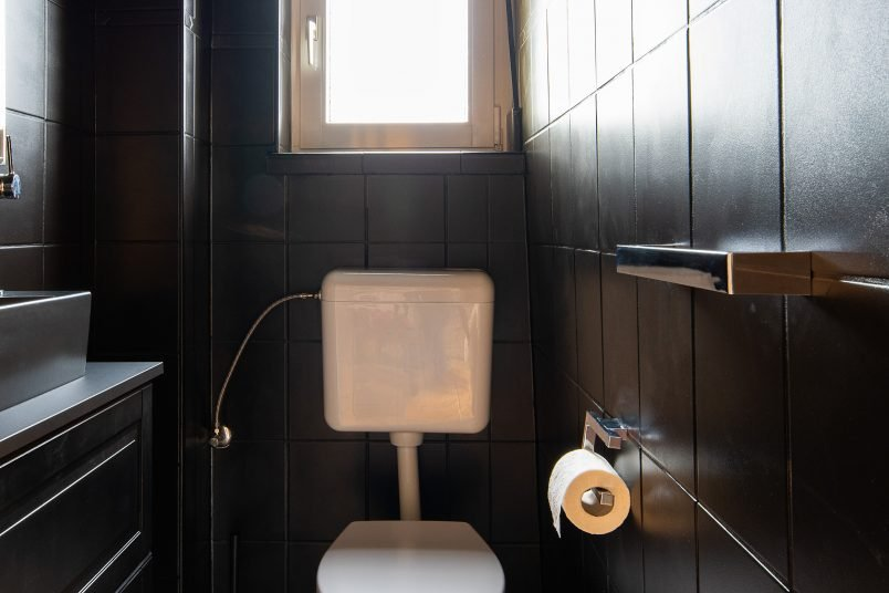 All Black Guest Bathroom - Little House On The Corner