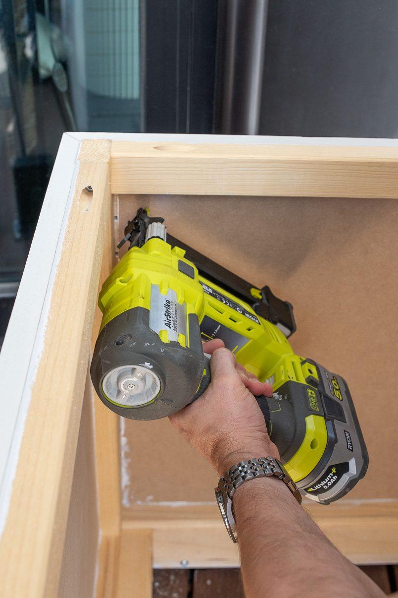 Attaching inner sides of storage box