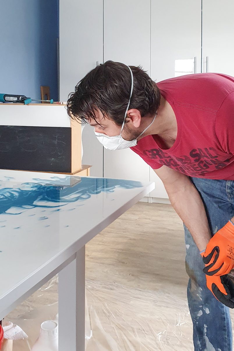DIY Epoxy Resin Table - Almost Finished