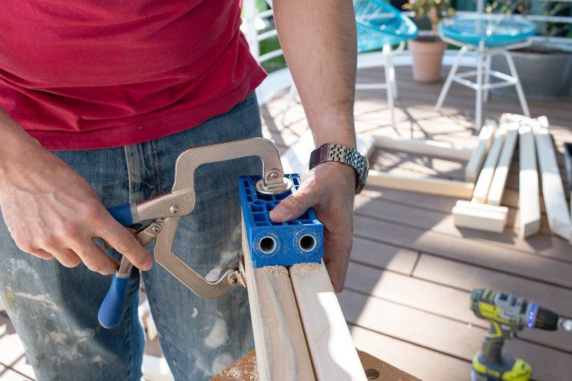 DIY Outdoor Storage Box - Drilling Holes With Kreg Jig HD