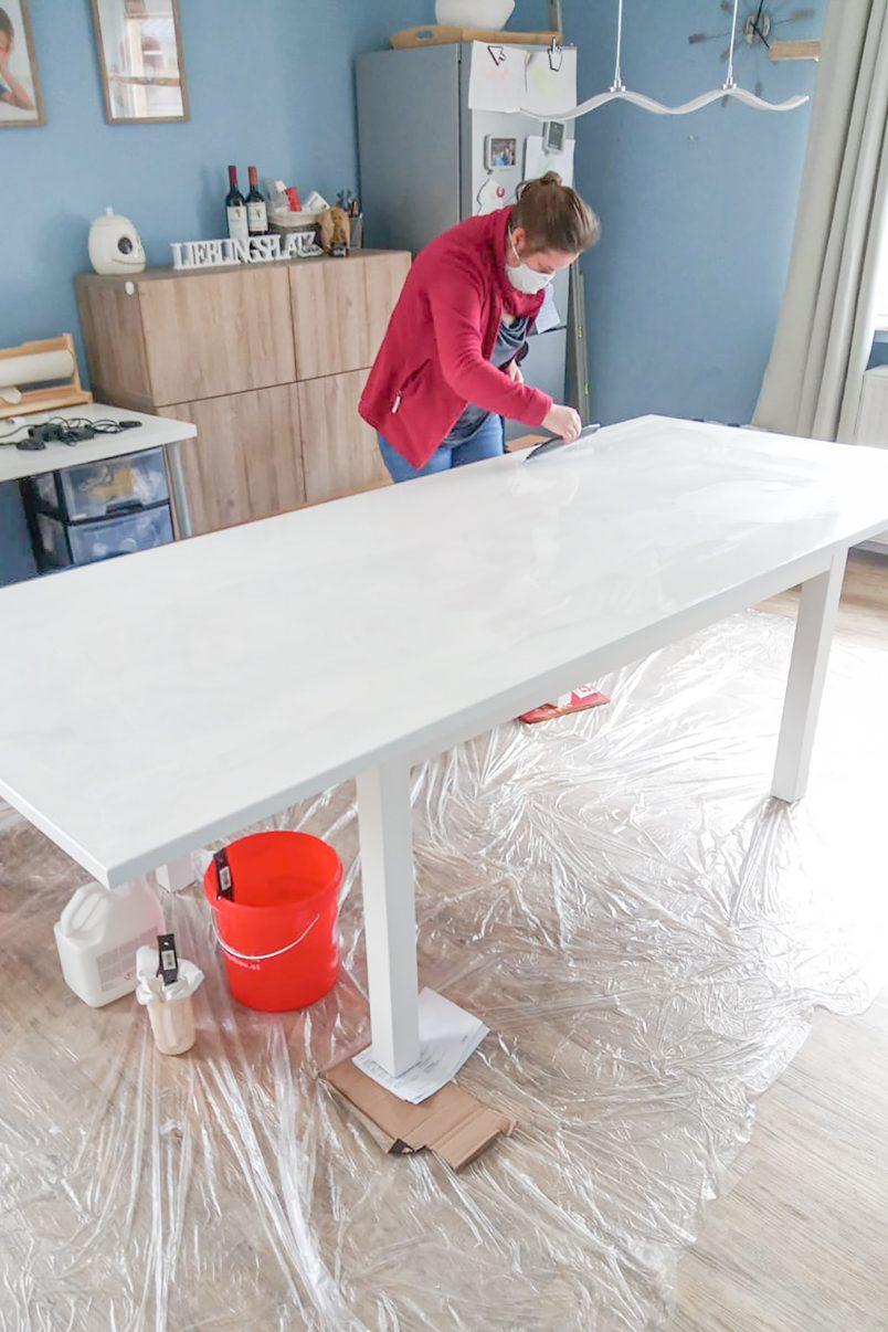 DIY Resin Dining Table - Nudgin Resin