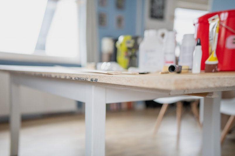 DIY Resin Table - Side Of Base